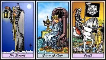 RWS 2.0 Hermit, Queen of Cups, Death