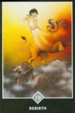 Osho Zen Tarot: Ten of Swords (Air) - Rebirth