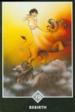 Osho Zen Tarot: Ten of Swords (Air) - Rebirth