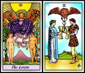 Lovers vs Two of Cups | James Ricklef's Tarot Blog
