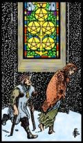 Five of Pentacles RWS2.0