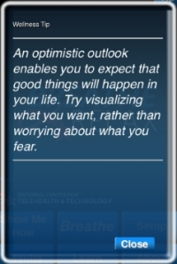 B2R tip: visualize not worry