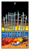Ten of Swords Tarot eCards