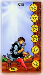RWS 2.0 Eight of Pentacles