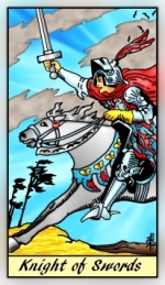 What does the Knight of Swords mean? | James Ricklef's Tarot