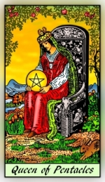 RWS 2.0 Queen of Pentacles