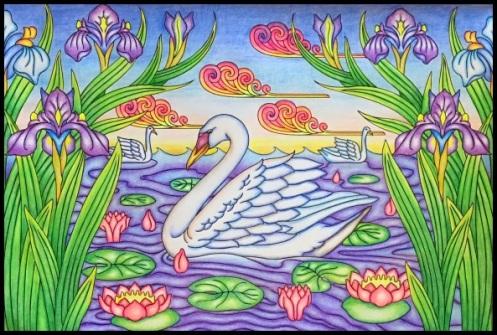Coloring book: Swan lake